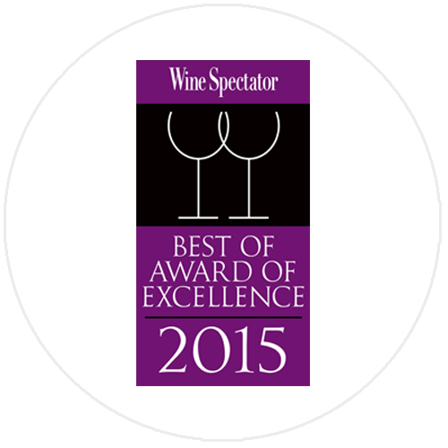 "Winner of the ""Best of Award of Excellence"" by Wine Spectator Magazine (New York)"